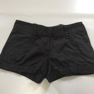 Forever 21 light fabric black shorts